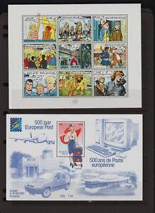 Belgium - 5 souvenir sheets - cat. $ 46.50 - see 2 scans