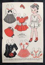 1950, Nanette Mag. Paper Dolls, Wee Wisdom Mag.,Dorothy Wagstaff Artist