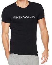 EMPORIO ARMANI Black mens Short sleeve T-Shirt --Slim fit - M*L*XL