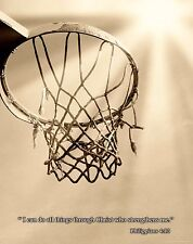 Basketball Religious Inspirational Poster Art Print NBA Kids Room Shoes RELG07