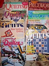 Lot of 13 Quilting Books & Magazines -Quick Quilts, Rotary Cutting, Colonial