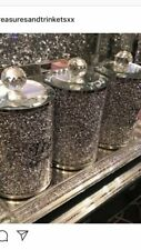 crushed diamond tea coffee sugar cannisters