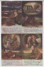 """SET OF 4 POSTCARDS - Bamforth Song Cards """"Little Grey Home In The West"""" #4871"""