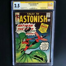 TALES to ASTONISH #44 💥 SIGNED by STAN LEE! 💥 CGC 2.5 SS 1ST APP of the WASP!