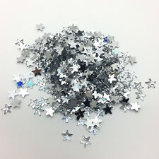 6mm 200pcs Silver STARS Resin Rhinestone Gems Flat Back Crystal Beads