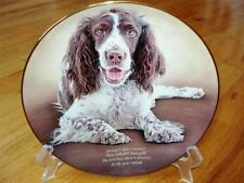 Danbury Mint English Springer Spaniel Love They Share Limited Edition Plate