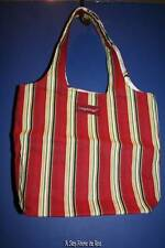 Longaberger Holiday Stripe/Botanical Small Reversible Grocery Tote- NWT