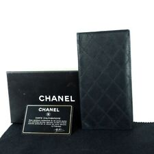 Vintage Chanel Quilted Double Stitched Leather Long  Wallet.NFV6639