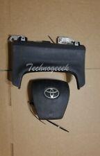 2010-2015 Toyota Prius Left Driver Side Wheel Knee Airbag BLACK - VIN DU DP