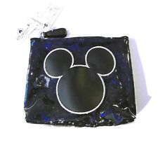 Disney Mickey Mouse Icon Clear/Black Cosmetic Bag New