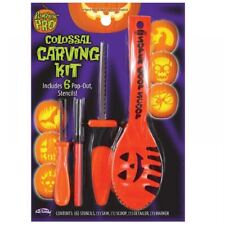 Halloween Orange Pumpkin Pro Carving Kit Tools Set Party Decoration Stencil Book