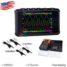 Digital Oscilloscope Portable Lcd 4 Channel Usb 15mhz 100msas Models Ds213