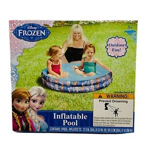 """Disney - Frozen Inflatable Kids Girl Pool 37.5""""x5.5"""" New Toys  summer Ages 3"""