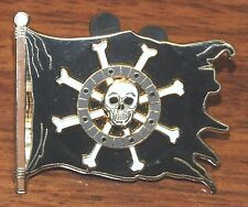 Pirates of the Caribbean Spinning Skull & Bones Flag 2008 Official Trading Pin!
