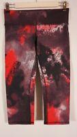 Alo Yoga Leggings Womens Size S/M Crop Red Black Crop