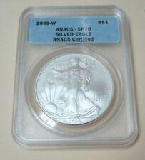 2008 W American Silver Eagle ANACS SP70 Reverse 2007