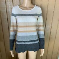 Athleta Cashmere Striped Pullover Sweater S
