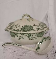 Pottery Lovely Melville B&s Large Blue And White Tureen 1840-1900