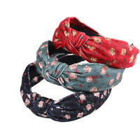 Boho Women's Knot Headband Tie Hairband Flower Hair Band Hoop Accessories