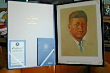 "1976 Norman Rockwell Folio Framable Lithograph John F. Kennedy 20"" Nm 2113/2500"