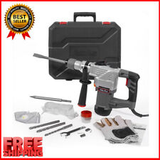 New Listing1 14 Sds Plus Electric Rotary Hammer Drill Chisel Point Amp Flat Bits With Case