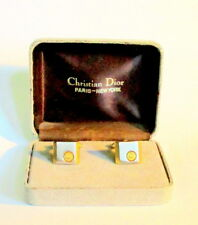 VINTAGE 1970'S BOXED CUFFLINKS BY DIOR, PARIS