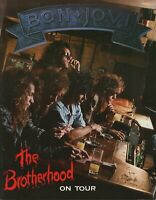 JON BON JOVI 1989 THE BROTHERHOOD TOUR CONCERT PROGRAM BOOK / BOOKLET / NM 2 MNT