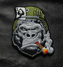 APE CIGAR ACE DEAD CARD BULLETS EMBROIDERED IRON ON MC BIKER PATCH