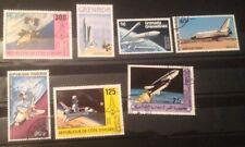 Nasa / Space Shuttle Stamp Navette Spatiale Orbiter Grenada Republique De Cot.