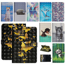 For Samsung Galaxy Tab A E 3/4 S2/S3 Tablet Folio Pattern PU Leather Case Cover