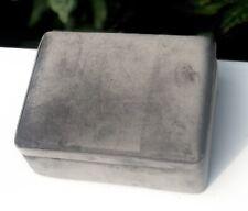 Luxury Grey Velvet Square Jewellery Box Cigarette Cigar Box Jewellery Container