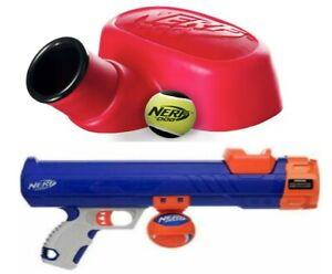 Nerf Dog Tennis Ball Blaster Cannon or Stomper Launcher & Ball Mini Large Stomp