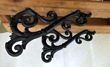 Large Victorian Cast Iron Shelf brackets -Architectural pair -Authentic Antiques
