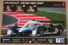 2008 Peugeot Racing #8 908 HDi FAP LMP1 24 Hours of Le Mans postcard