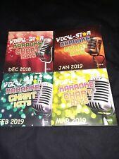 More details for vocal-star chart hits  karaoke cd+g disc set 4 discs 72 tracks