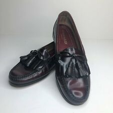 Cole Haan Pinch Toe Burgundy Kiltie Tassel Bow Dress Loafers, Size 10