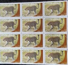 Zimbabwe Leopard (The Big Five)Stamps  by Natprint 2009 mint  x 12 stamps