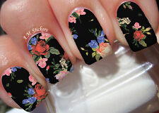Roses A 1012 Nail Art Stickers Transfers Decals Set of 22
