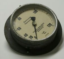 altes Spannungsthermometer Thermometer antik Metall Glas 1930 Union Werke
