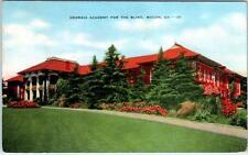 MACON, GA   Georgia  ACADEMY FOR THE BLIND  1941  Linen   Postcard