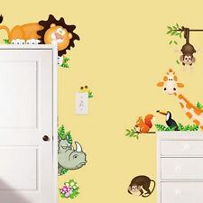 Jungle Wild Animal Zoo DIY Wall Sticker Decal for Kids Nursery Baby Room Decor