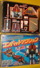 DAIKENGO COMBACT ACTION TAKATOKU Dx PLASTIC METAL'70 JAPAN spare C-4 ROBOT & BOX