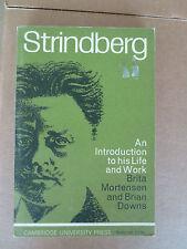 Strindberg by Brita M. E. Mortensen and Brian W. Downs (1965, Paperback)