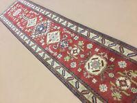 "Splendid 3x12 Fine Kazak Persian Oriental Rug Runner Hand Knotted 2'.7"" X 11'.7"""
