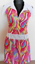 Womens Hippie Retro Disco 60s 70s Flower Power  Fancy Dress Costume Size 8 - 10