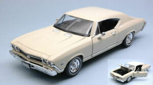Model Car diecast Welly Chevrolet Chevelle Ss 396 Scale 1:24 vehicles
