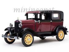 SUN STAR 6102 1931 31 FORD MODEL A TUDOR 1/18 DIECAST MODEL CAR RUBELITE RED