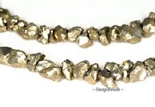 3MM-4MM IRON PYRITE GEMSTONE ROUGH EDGE GRANULE PEBBLE CHIPS LOOSE BEADS 16""