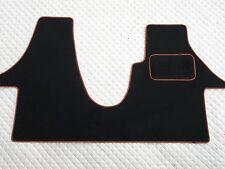 TO FIT A VW TRANSPORTER T5 2012 VAN, BLACK/ORANGE PIPING CUSTOM FIT 1PC MAT