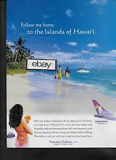 HAWAIIAN AIRLINES FOLLOW ME HOME 767 TO THE ISLANDS OF HAWAII FROM 9 CITIES AD